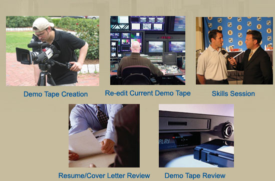 demo tape creation on air talent coaching tv job search assistance